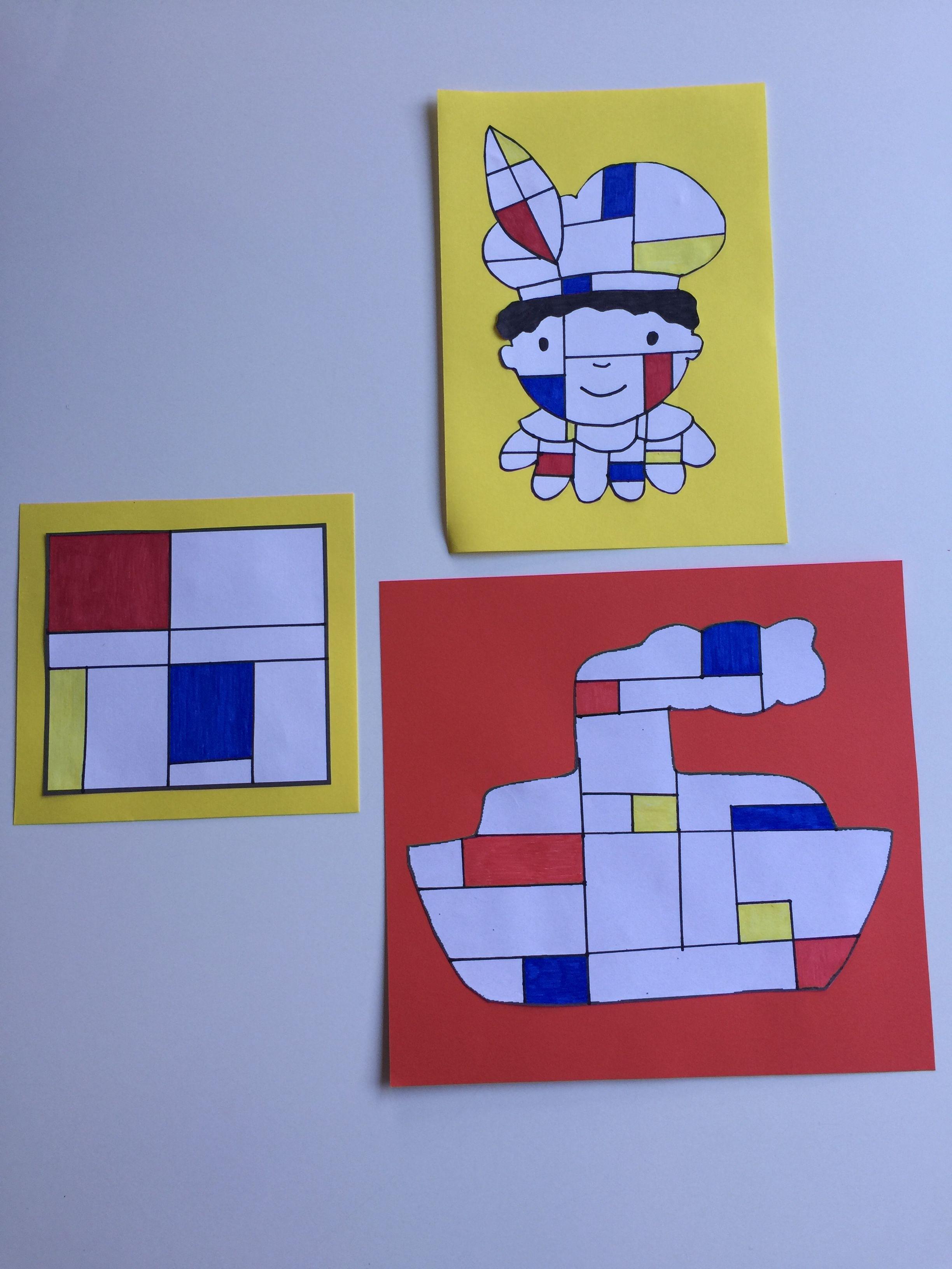 Verbazingwekkend Piet' Mondriaan knutselen/tekenen (met afbeeldingen) | Knutselen US-21