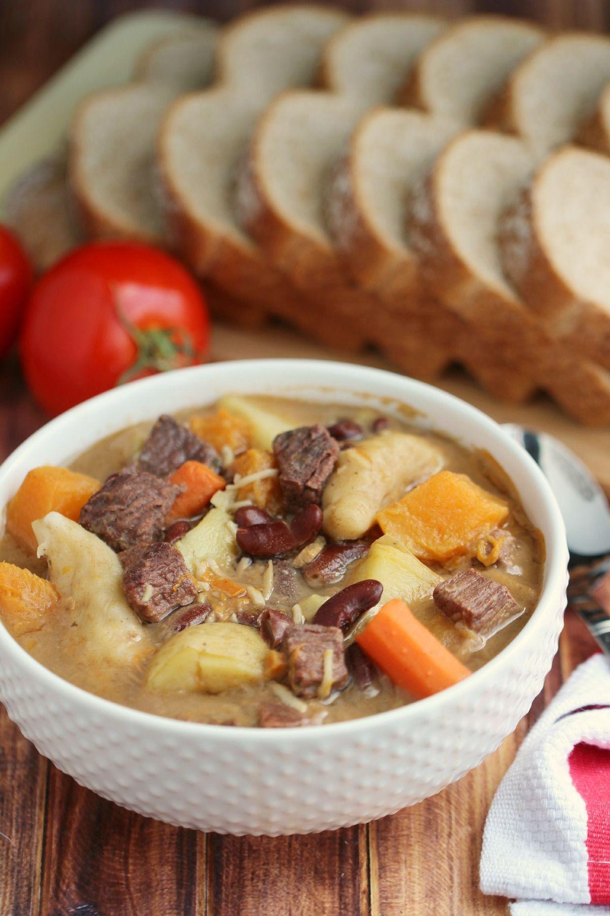 jamaican pumpkin beef soup  frugal mom eh  recipe
