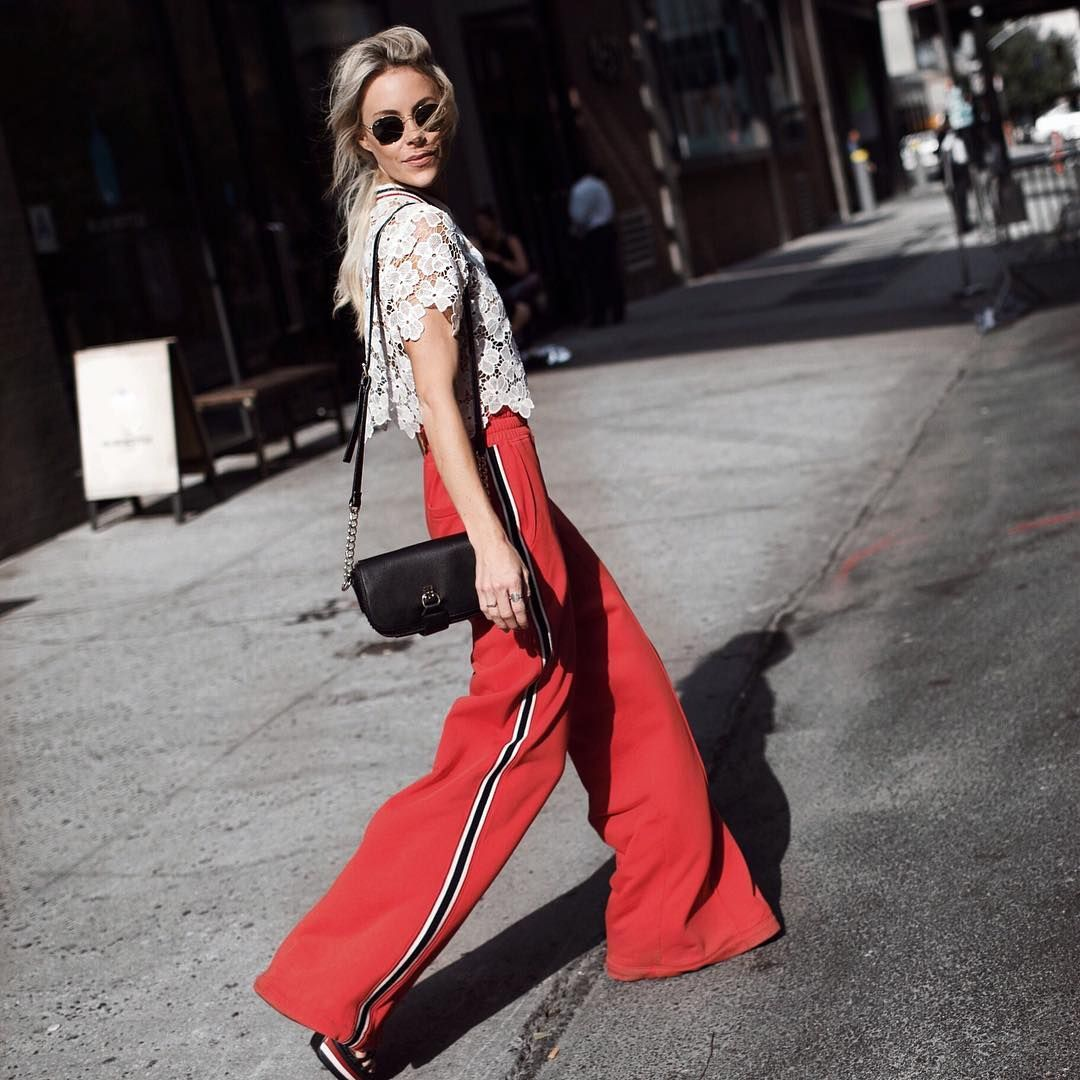 Top ideas for red pants - Fancy Track Pants Tip Track Pants That Flare Out Or Come In Silk Will Lend