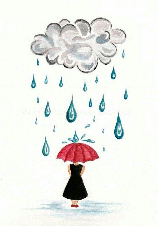 Pin De Rose Conti En Paraguas Sombrillas Gotas De Lluvia Lluvia Dibujos Regalos Pioneros