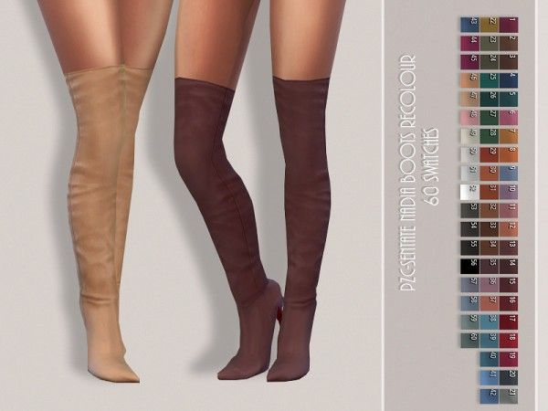 The Sims Resource: Sentate Nadia Boots Recolored b