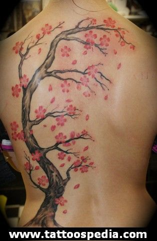 43+ Tatouage cerisier japonais dos ideas