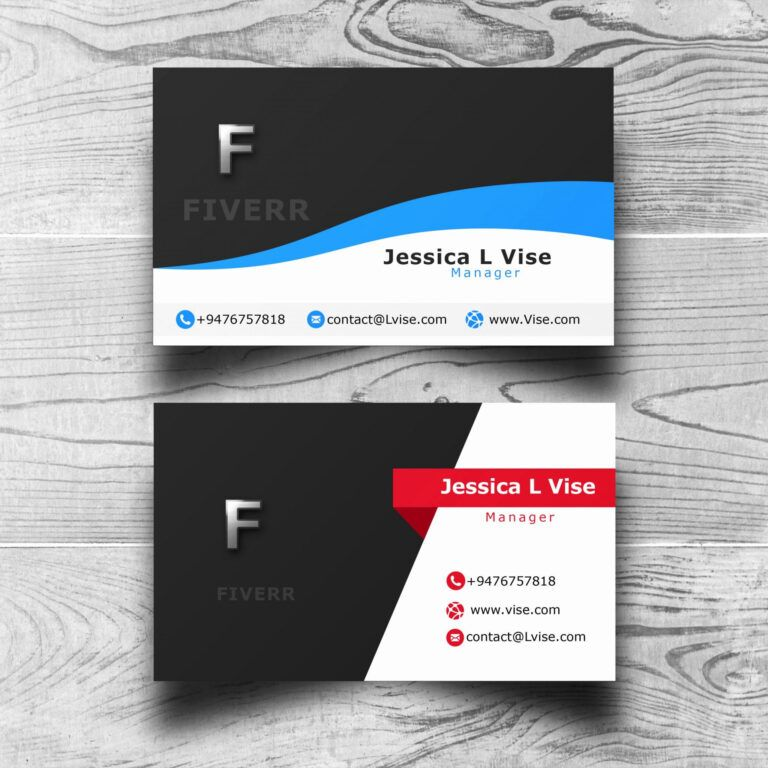 Double sided business card template illustrator in 2020