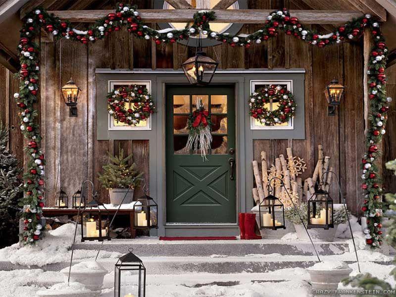 Addobbi Natalizi Esterno.Addobbi Natalizi Per L Esterno Portico Natalizio Decorazioni Di Paese Natale Decorazioni Natale All Aperto