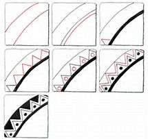 Image result for Simple Zentangle Patterns Step by Step | zenmania