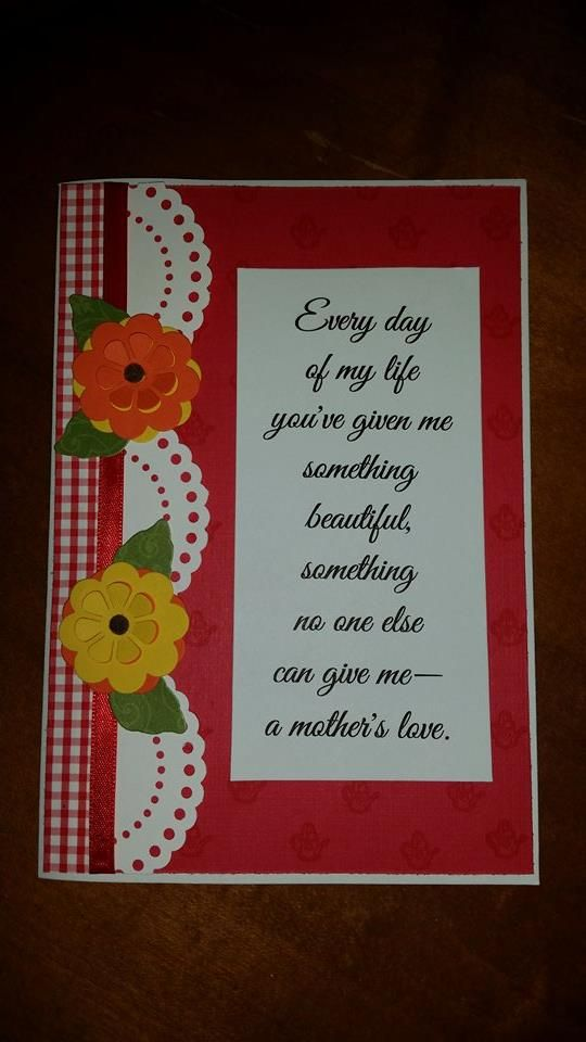 Birthday card for mom Layout inspired by Operation Write Home - birthday card layout