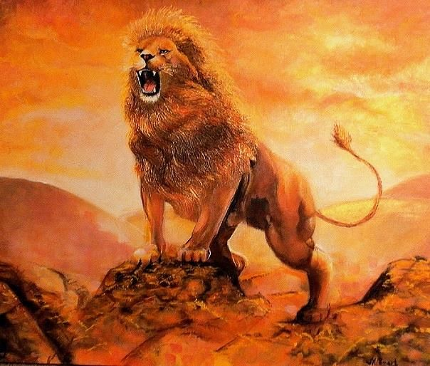 Fine Art Realistic Painting Acrylic on Stretched Canvas The Lions Pride Painting | Realistic paintings, Lion painting, Painting