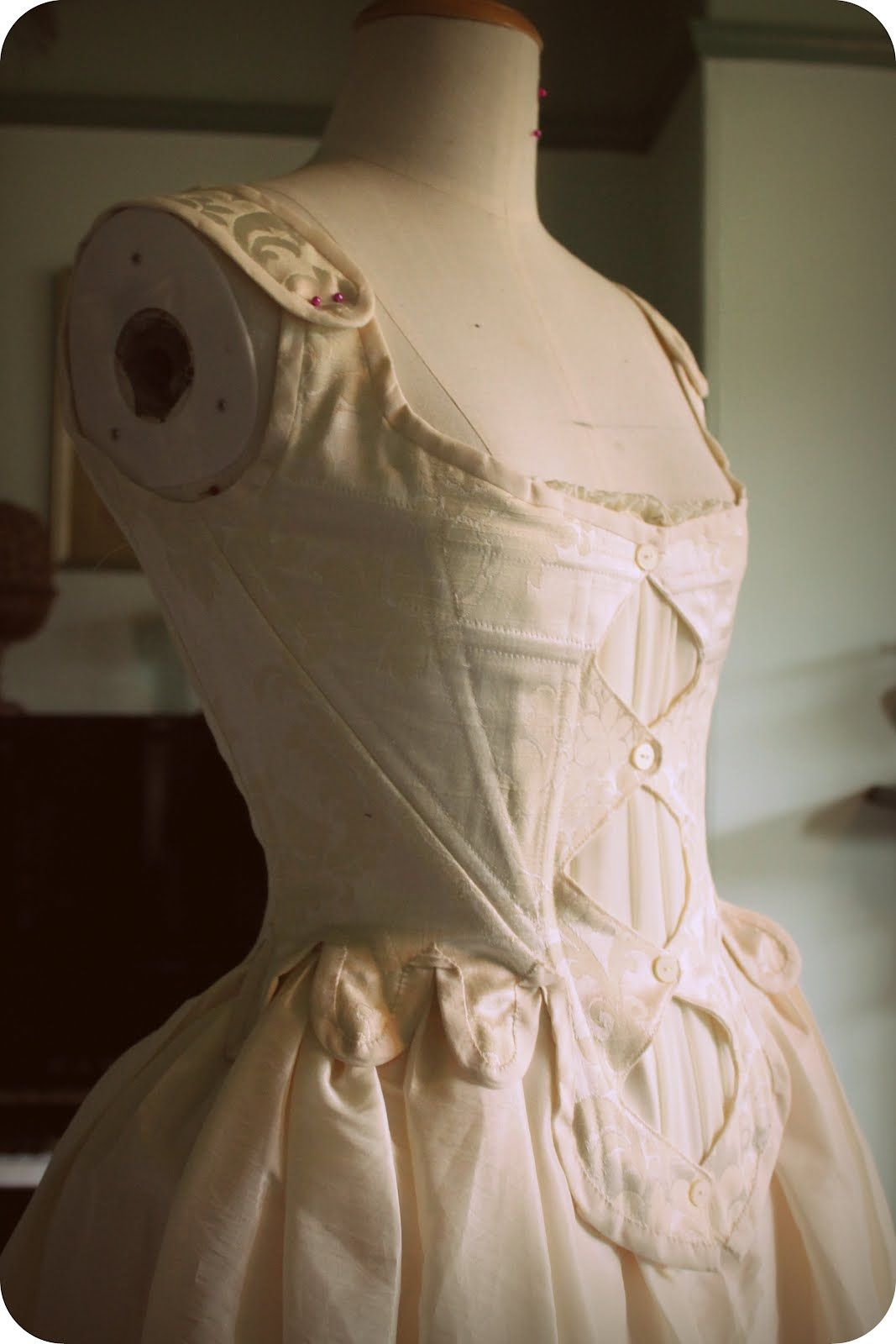 18th century wedding dress  th century bodice  stays reproduction  Before   Pinterest