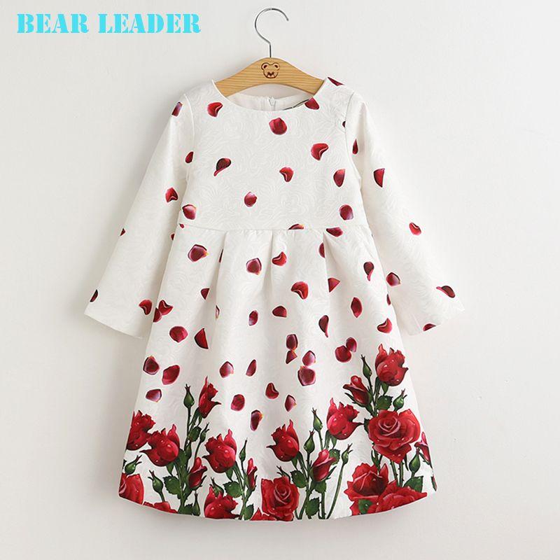 US $13.70 Bear Leader Girls Dresses Long Sleeve 2016 Brand Kids Princess Dress Rose Flower Kids Clothes for Girls 3-8Y Children Clothes aliexpress.com