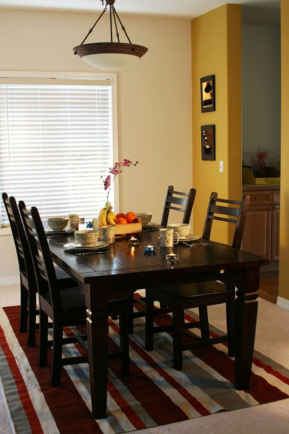Energetic Yellow Dining Room Wall Accent Dining Room Small