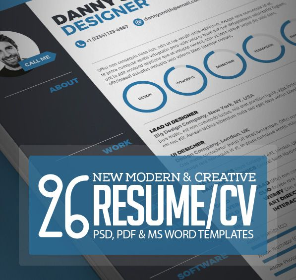 26 Creative CV \/ Resume Templates with Cover Letter \ Portfolio - portfolio cover letter