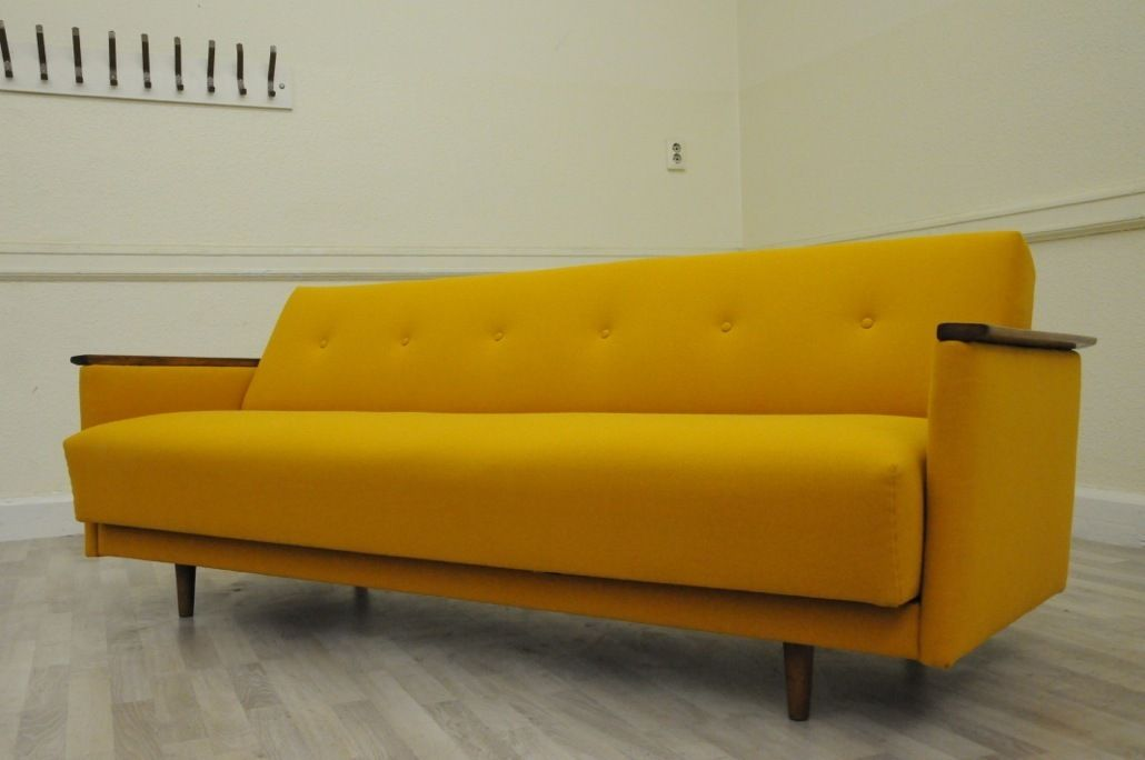 Original Mid Century 1950s Sprung Day Bed Sofa Vintage