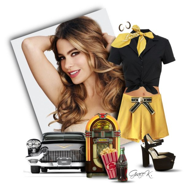 Modern Pin-up style, Sofia Vergara by gracekathryn on Polyvore featuring Hallhuber, BECCA by Rebecca Virtue, Chicnova Fashion, Kenneth Jay Lane and modern