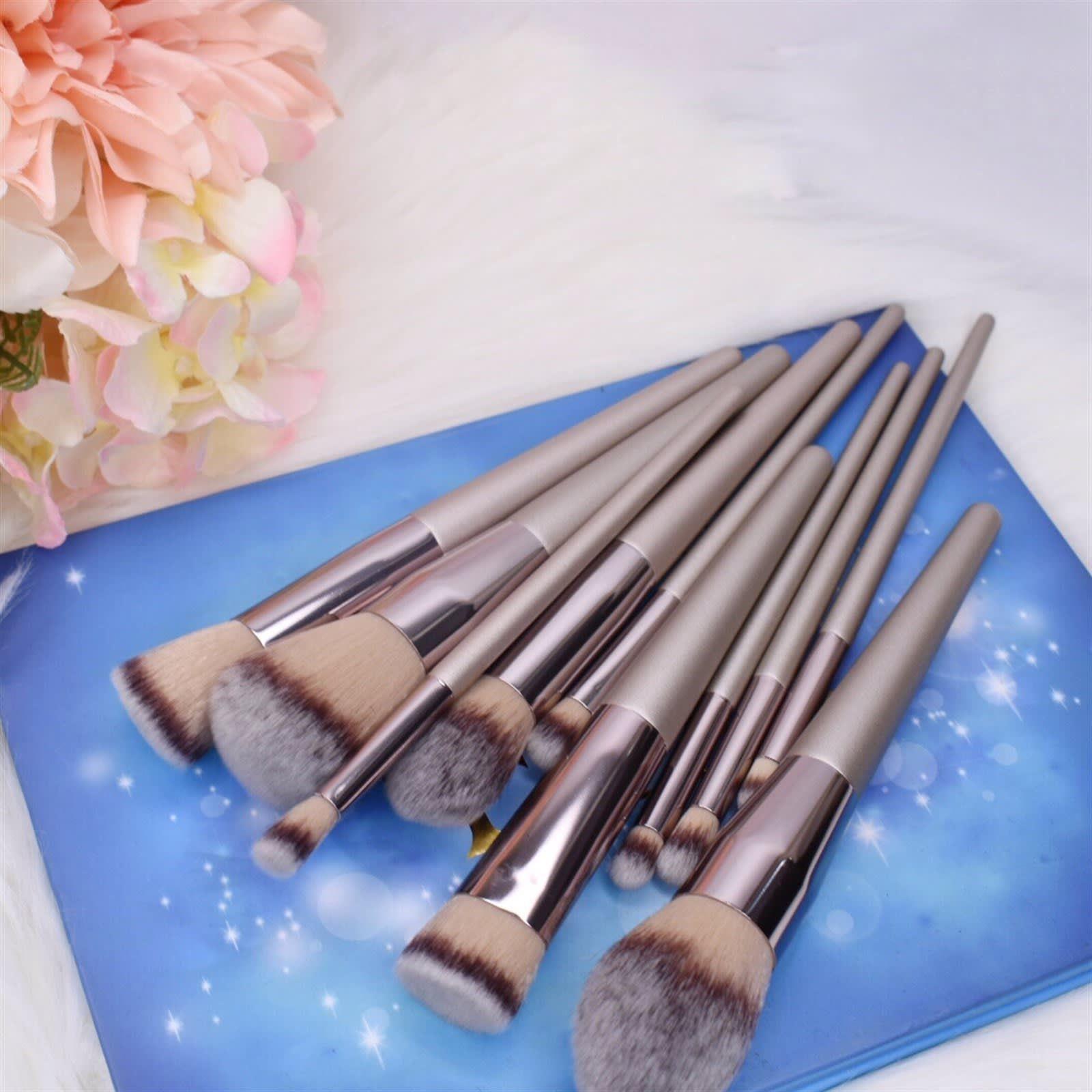 Professional Makeup Brushes Set of 10 Sprinkle Savings