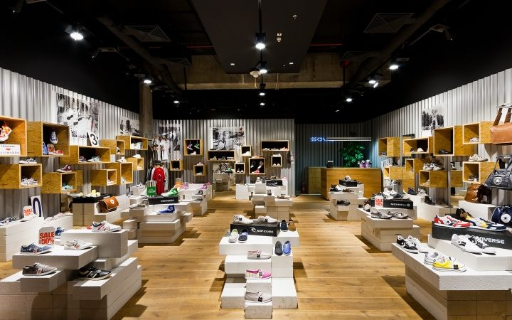 SOUL concept shoe store by A+D design, Warsaw We used real wood on - SOUL Concept Shoe Store By A+D Design, Warsaw We Used Real Wood On