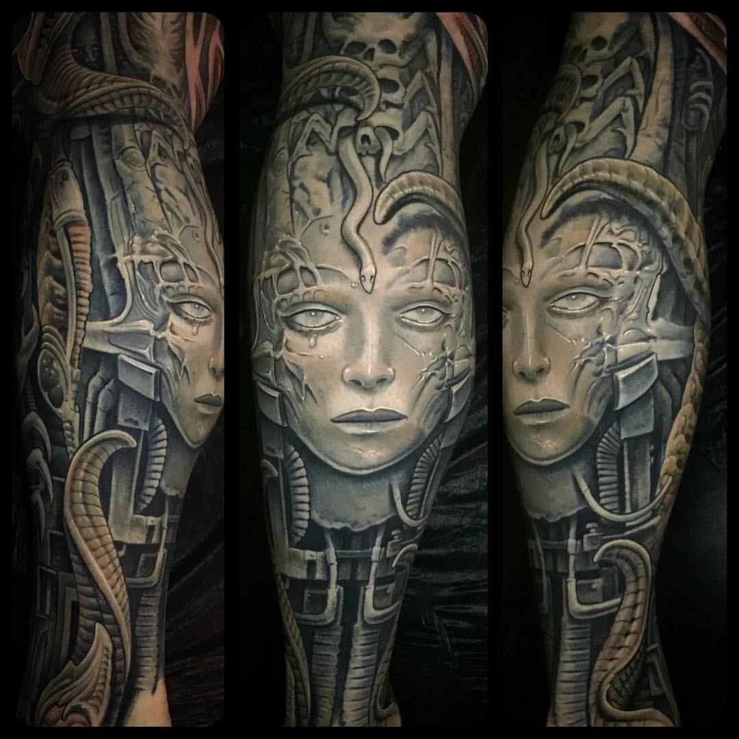 Hr giger tattoo designs - Source Snd Artist Corpsepainter Julian Siebert On Instagram All Hr Gigergreat