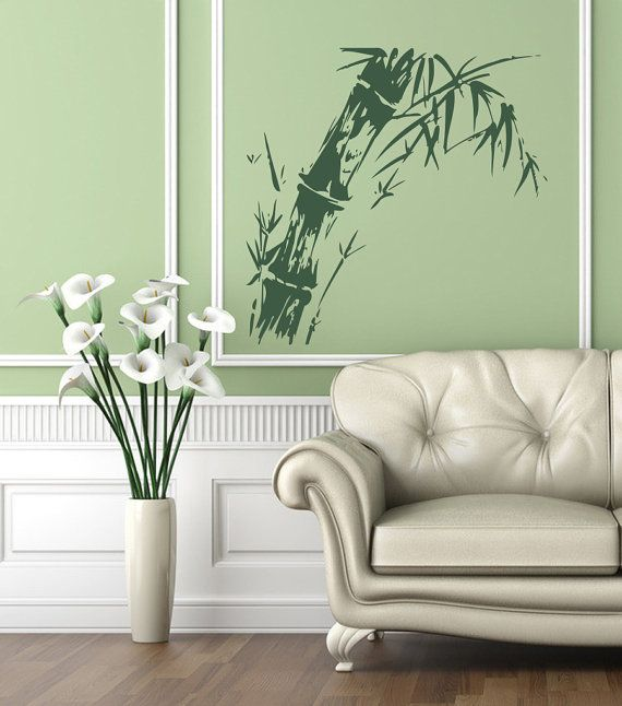 vinyl decal bamboo home wall decor removable stylish sticker mural unique design - Wall Vinyl Designs
