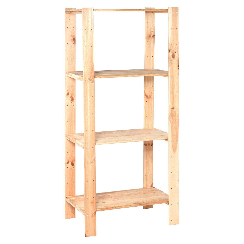 Holz Schwerlast Schraubregal 174 Cm X 80 Cm X 50 Cm Schraubregal