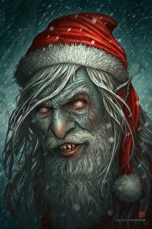 Zombie Santa Christmas Horror Bad Santa Creepy Christmas