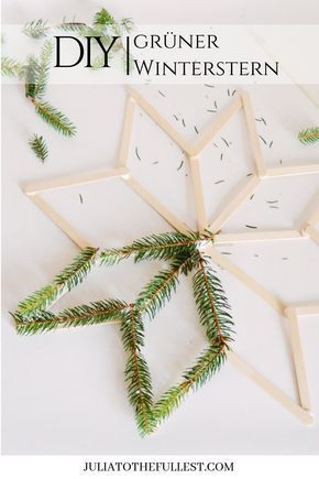 Photo of DIY – green winter star with template