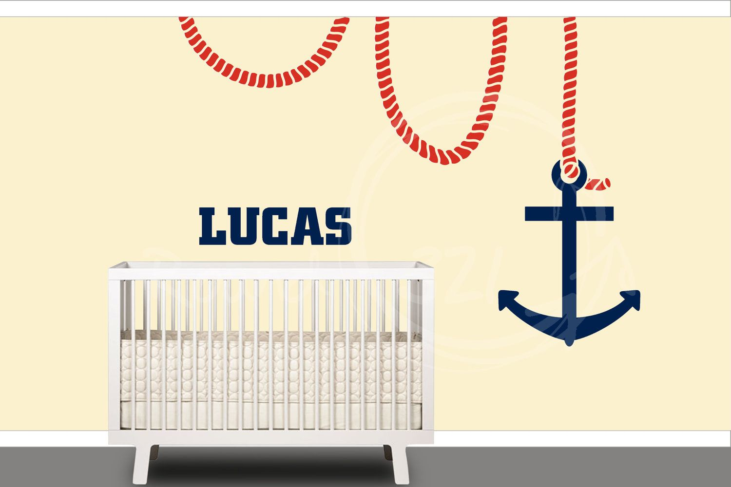 Nautical anchor wall decal customizable wall decal nursery nautical anchor wall decal customizable wall decal nursery decor playroom or bedroom wall amipublicfo Image collections