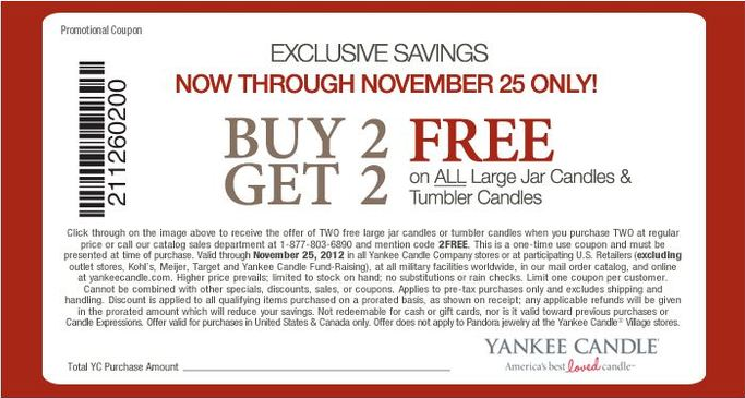 graphic regarding Printable Yankee Candle Coupons named Pin upon For the boy