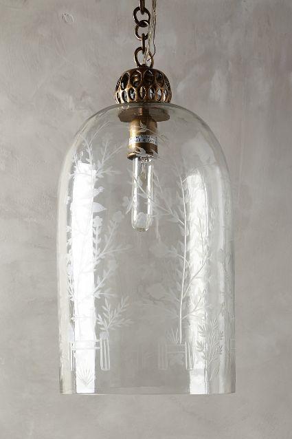 Etched Cloche Pendant Lamp Anthropologie Com