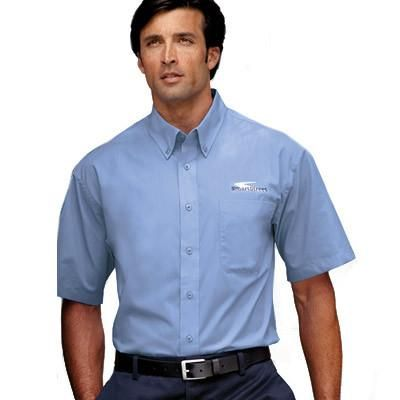 Port authority clothing embroidery and printing services for Polo work shirts with company logo