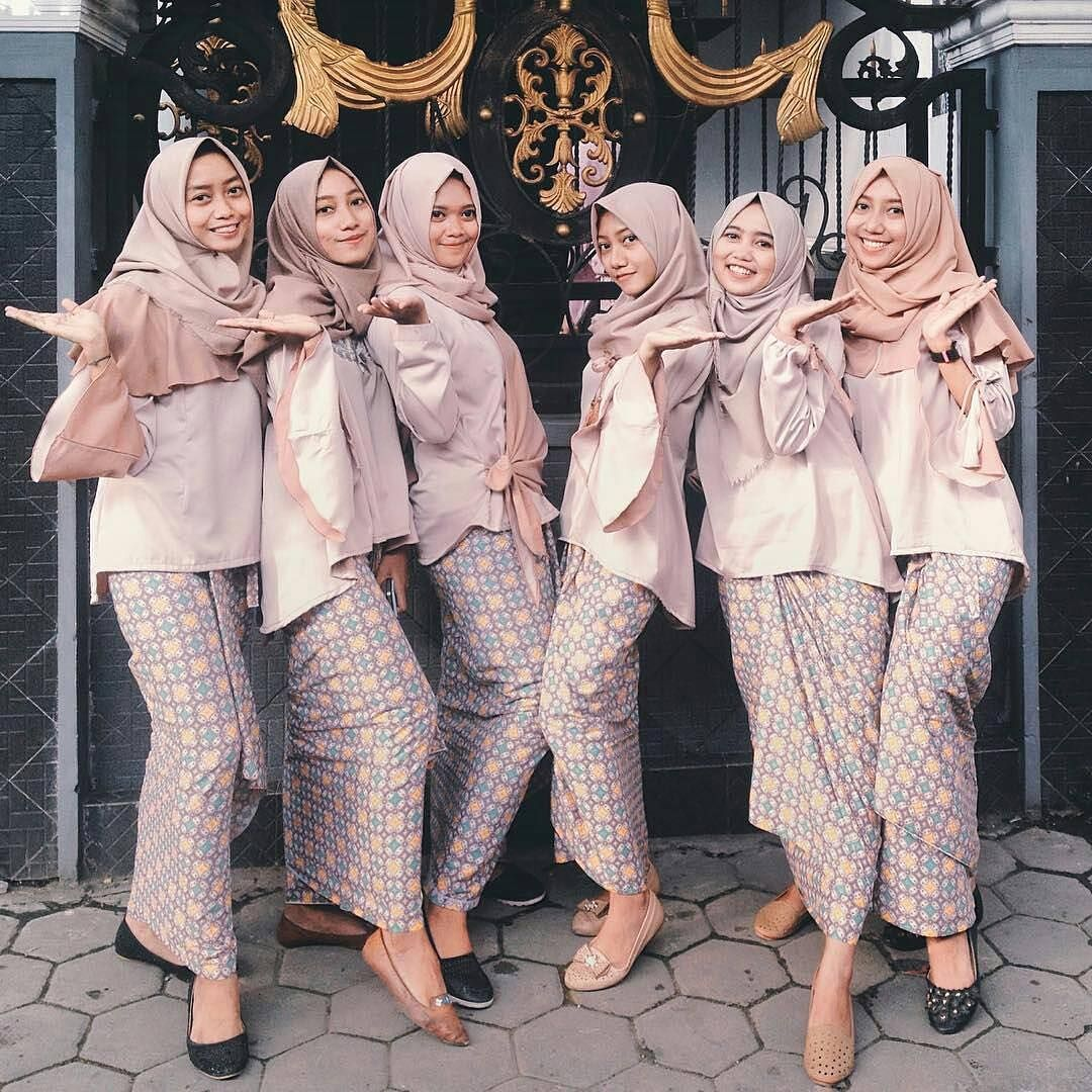 Bridesmaid dress inspiration came from kdinina they looks so bridesmaid dress inspiration came from kdinina they looks so happy in their pink nude muslim wedding ombrellifo Image collections
