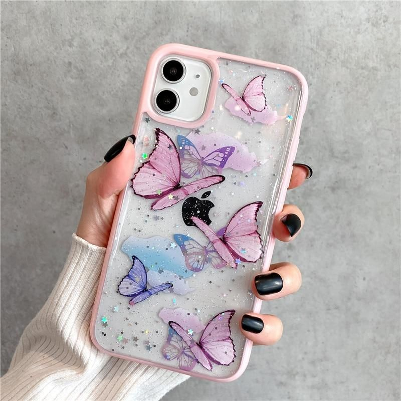Bling glitter butterfly iphone case pretty iphone cases