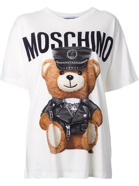 e1ef44bcd5063 MOSCHINO Toy Bear Logo T-Shirt. #moschino #cloth #t-shirt | Moschino ...