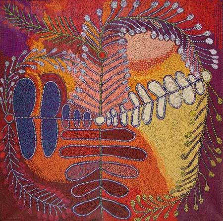 Ruby Tjangawa Williamson / Untukunpa 2011 198 x 197 cm