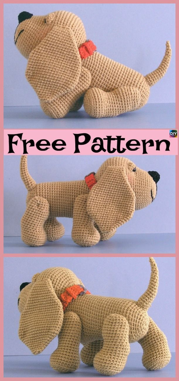 15 Adorable Crochet Puppy Dog Free Patterns | Toys to make ...