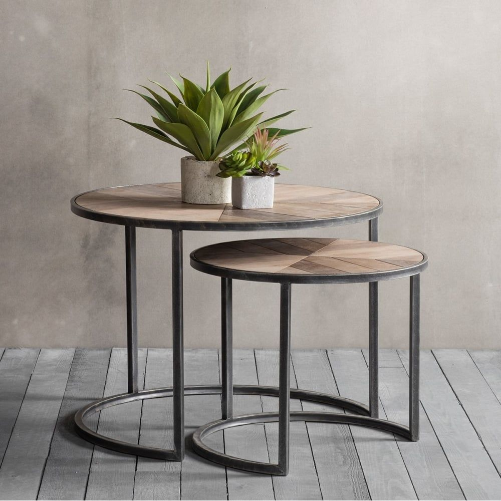 Fulton Modern Nesting Coffee Tables Metal And Wood In 2019