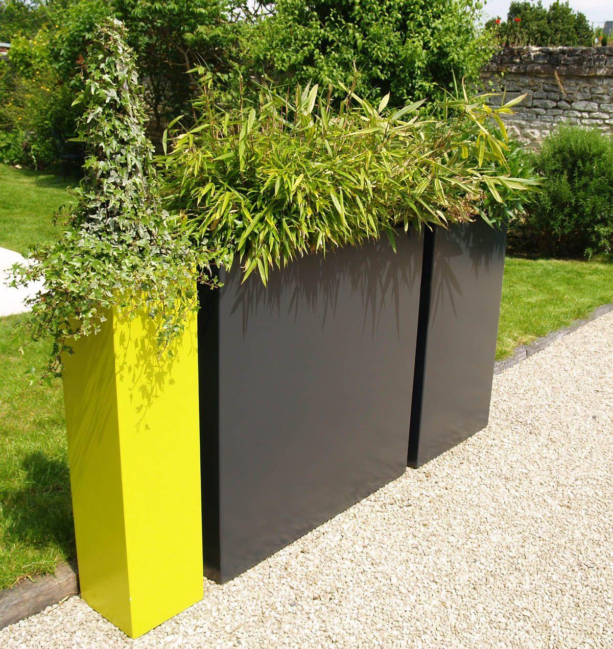 jardini res sur mesure design en fibres ciment laqu. Black Bedroom Furniture Sets. Home Design Ideas