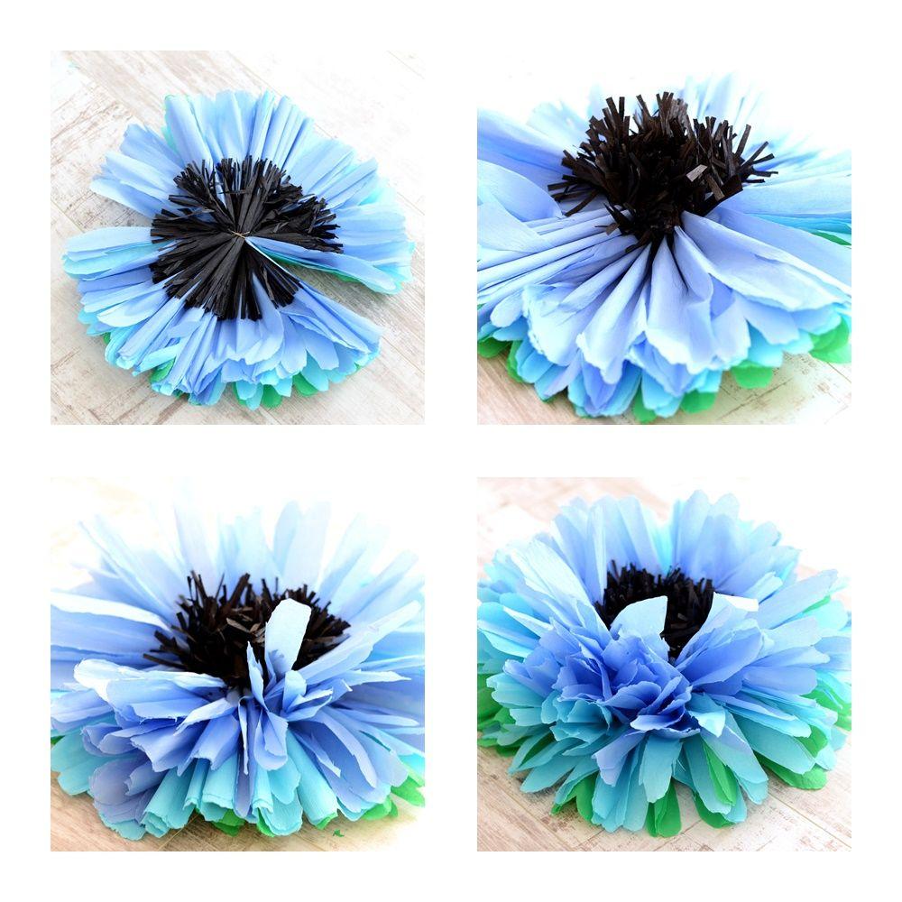 Duze Kwiaty Z Bibuly Na Patyku Www Arbuziaki Pl Acrylic Painting Lessons Painting Lessons Origami
