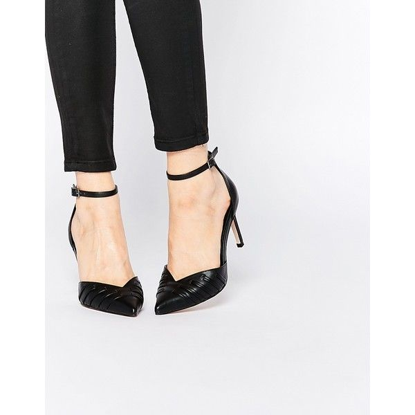 ASOS SPELLBOUND Pointed Heels (£26) ❤ liked on Polyvore featuring shoes, pumps, black, pointy high heel pumps, black high heel shoes, pointed toe pumps, black shoes and pointy-toe pumps