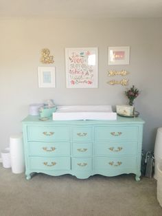 Not Crazy About This Look But Like The Dresser Top Changing Table Idea