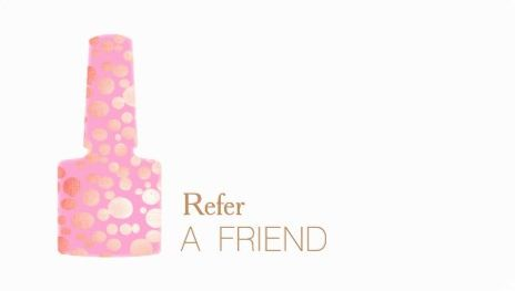 Pink and gold polish bottle manicurist nail salon refer a friend pink and gold polish bottle manicurist nail salon refer a friend business cards colourmoves