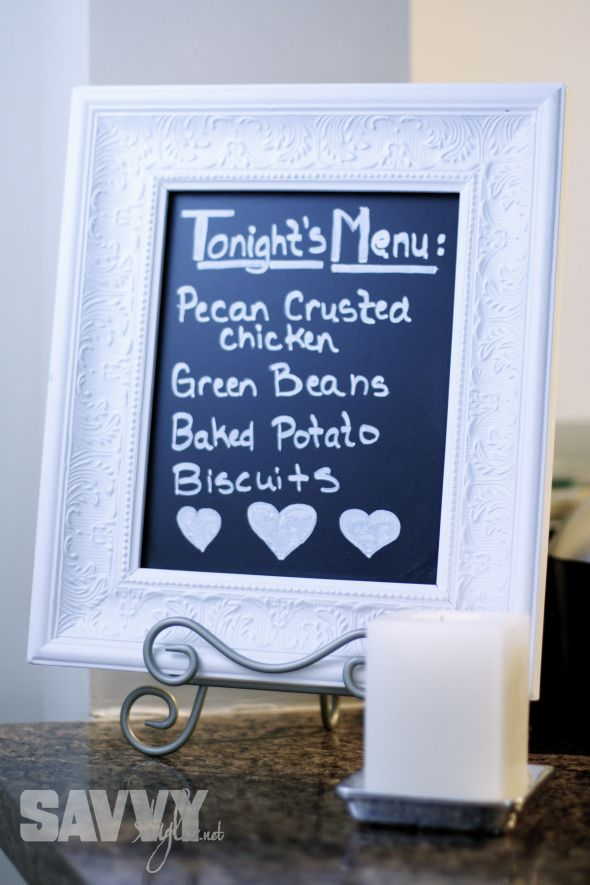 DIY Chalkboard - frame from Hobby Lobby & chalkboard plywood from ...