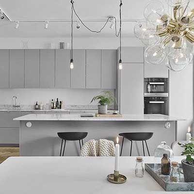 Antrasit Gri Mutfak Dolabı Modelleri ve Örnekleri #wohnungküche