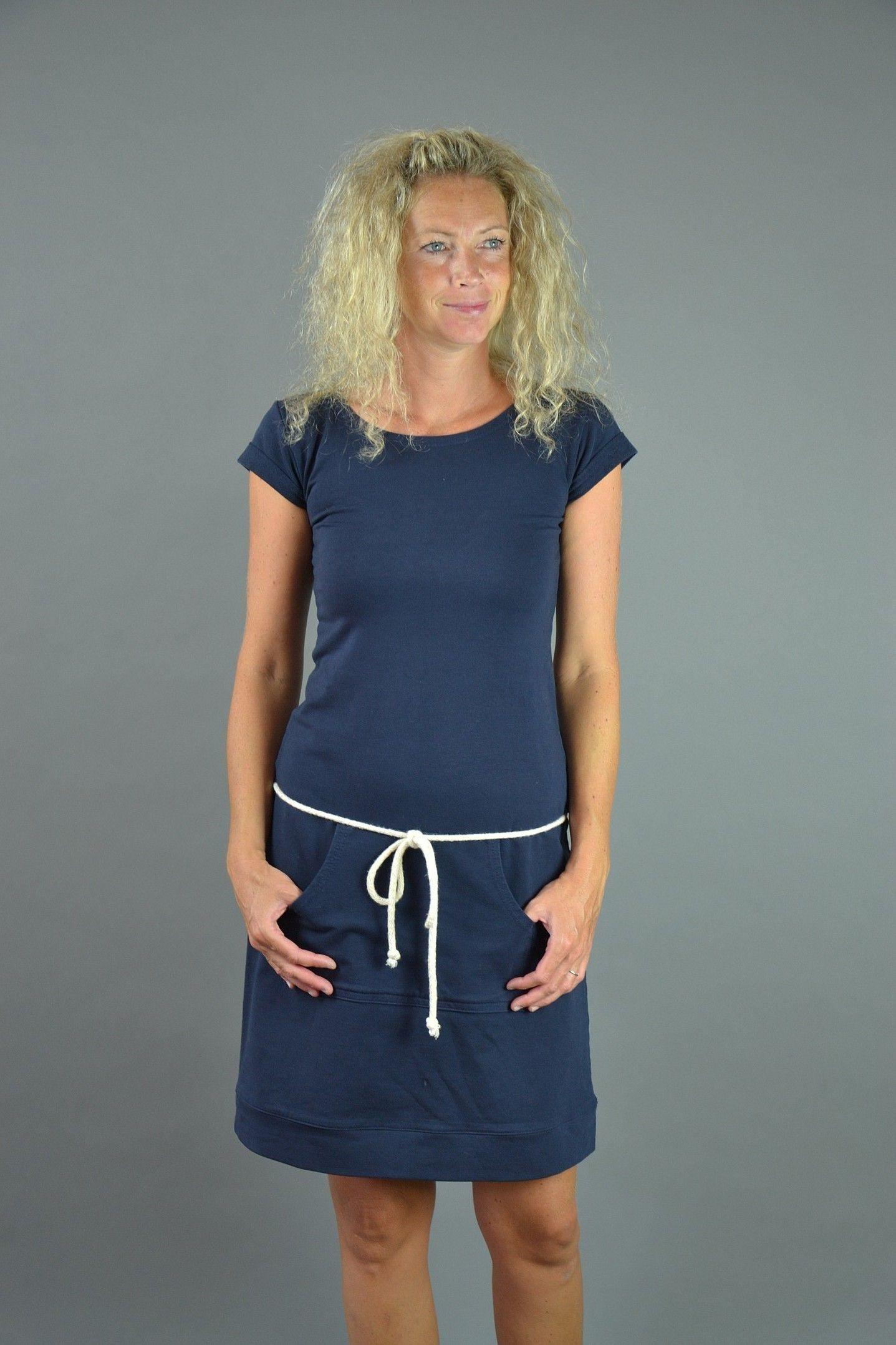 Modré+šaty+Modré+šaty+se+šňůrou+a+s+klokankou.+Materiál+elastická+ ... 15fe1c3f9d