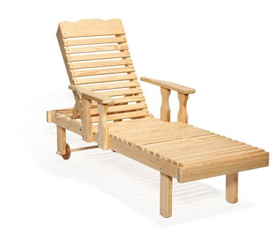 Amish Pine Chaise Lounge Wooden Lawn Chairs Lawn