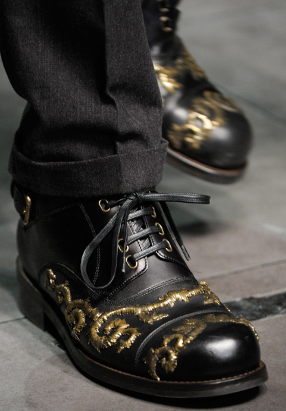 Embroidered shoes by Dolce & Gabbana f/w 2012