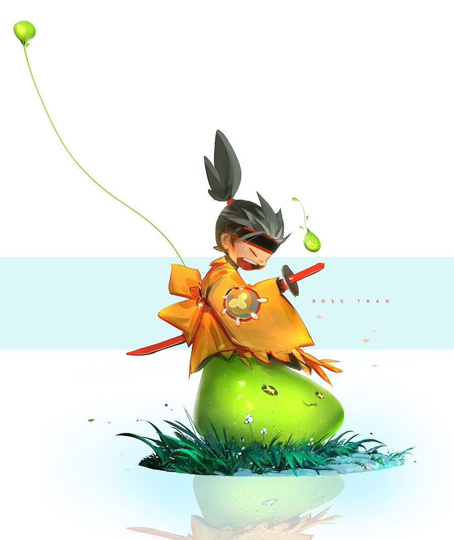 Slime Ninja!, Ross Tran on ArtStation at https://www.artstation.com/artwork/slime-ninja