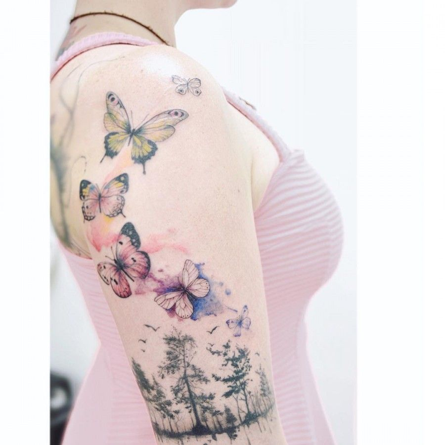 Great cover up tattoo ideas schmetterling tattoos  body art  pinterest  tattoos butterfly