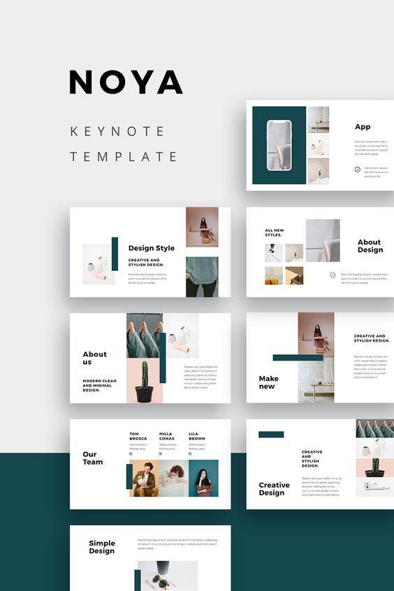 Noya Creative Modern And Stylish Keynote Presentation Template This Clean And Portfolio Design Layout Presentation Design Layout Portfolio Layout Template
