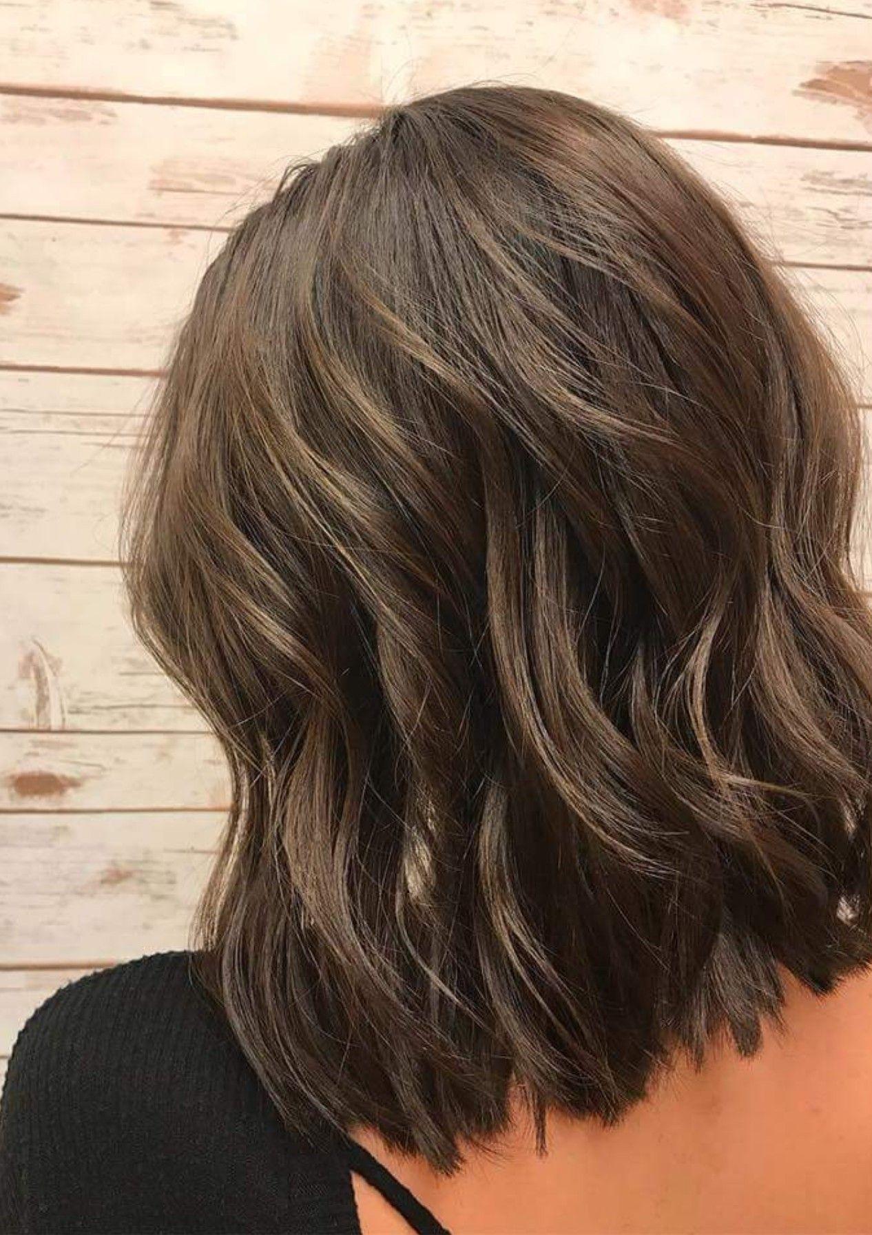 dark brown lob | hair in 2019 | short hair styles, long hair