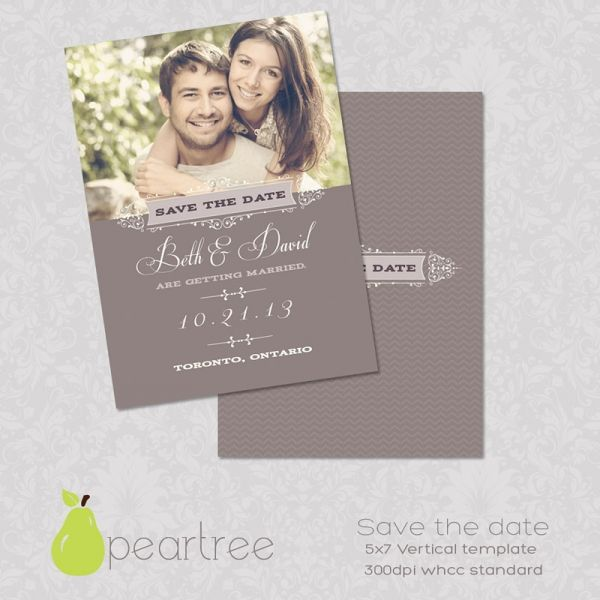 5x7in Save The Date Psd Template 106