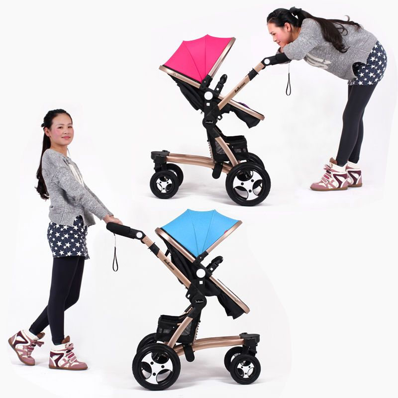 Luxury Newborn Foldable Pram Baby Stroller Pushchair Infant Travel Carriage Baby Strollers Newborn Stroller Stroller